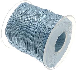 My-Bead 90m Nylonband Kordel 1mm blau Babyblau wasserfest Nylonschnur Top Qualität Schmuckherstellung basteln DIY Grundpreis 0.13 Cent je Meter