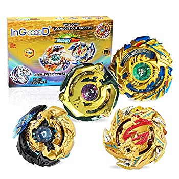 Ingooood Metal Master Fusion Gyro Toys for Kids 4X High Performance Tops Attack Set with Launcher and Grip Starter Set and Arena