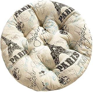 Kentop - Cojín para asiento, de algodón, redondo, para casa, coche, oficina, Diseño 5, 50×50CM