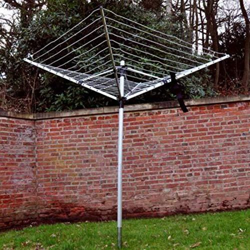 Be-Creative Tendedero rotativo de 50 m para jardín
