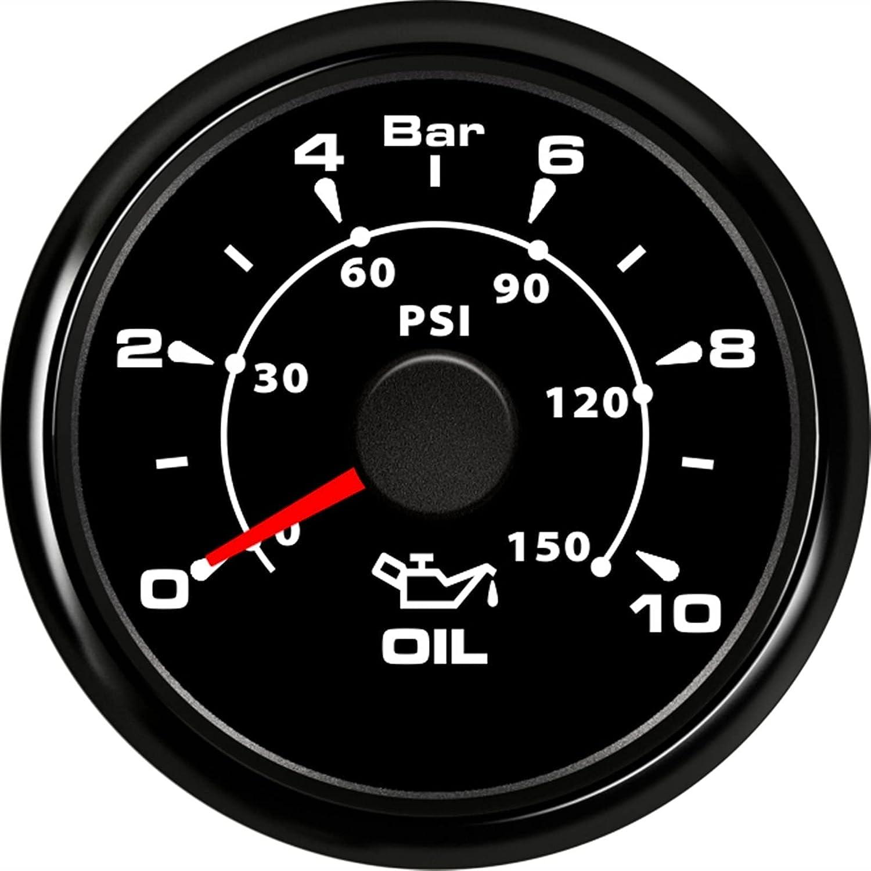 Waterproof Oil Pressure Gauge Bar Gaug Financial sales sale Free shipping on posting reviews 0-5 0-10