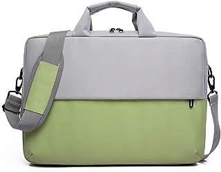 Waterproof 15.6-Inch Laptop Bag Shoulder-Slung Business Trip Shockproof Portable Briefcase (Color: Green, Size: 15.6-Inch)