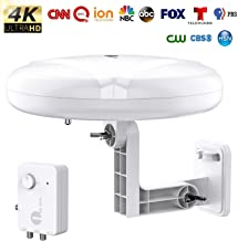 [New Version] HDTV Antenna – 1byone 360° Omni-Directional Reception Amplified..