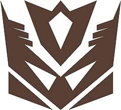 Wild Dingos LLC Decepticon G1 Transformers Vinyl Decal Sticker Brown