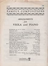 Arrangements for Viola and Piano: Celebrated Air (Air on the G String) B1383