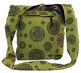 Guru-Shop Sadhu Bag, Goa Tasche, Schulterbeutel - Grün, Herren/Damen, Baumwolle, Size:One Size,...