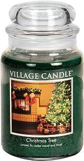 Village Candle 1-Piece 26 oz 1219 g Premium Candle Jar, Xmas Tree
