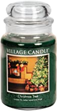 Village Candle Christmas Tree 26 oz Glass Jar Scented Candle, Large,