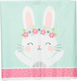 Creative Converting Birthday Bunny Party Plastic Table Cover, 108-Inch Length x 54-Inch Width, Multicolour