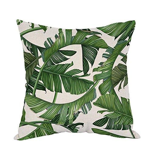 YISUMEI Kissenbezug Kissenhülle 80x80 cm Home Decor Dekokissen Fall Sofa Werfen Kissenbezüge Pillowcases Tropische dichte Dschungel-Palmblätter
