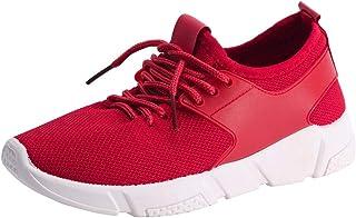 Scarpe da Ginnastica Corsa Donna Uomo Scarpe da Sportive Offerta Classica Stringata Palestra Running Sneaker Rosso Donne L...