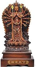 Home Accessories Avalokitesvara Bodhisattva Guanyin Buddha Sitting Lotus Ornaments for Security Peace for Household Shrine...