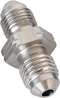 Stainless Steel Metric -3 AN AN3 Male Flare to -4 AN AN4 Male Thread Union Brake Hose Fitting Adapter