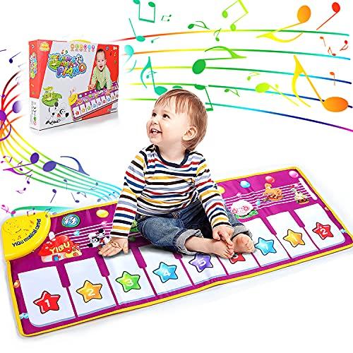 AniSqui Klavier Playmat, Kinder Klaviertastatur Musik Playmat Spielzeug, große Größe (39 * 14 Zoll) lustige Tanzmatte für Babys Kleinkind Jungen und Mädchen Geschenk