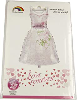 Wedding Dress Foil Balloon - 42 Inches - 362-13, White