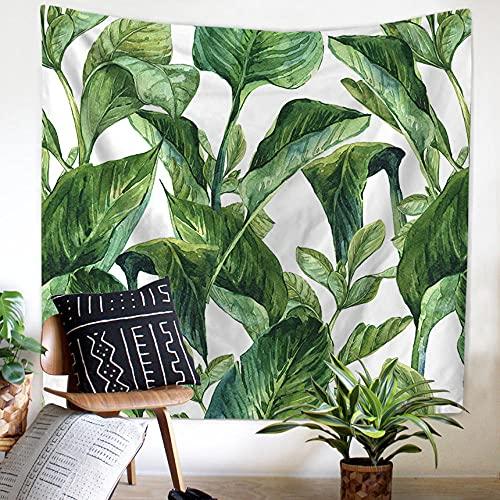 YMXMYJ Tapiz de Mandala Hoja verde Decoración de Paredes para Hogar,Versátil y Decorativo,Pareo,Toalla de Playa,Sofá,Colcha,Cubrecama 150 x 130 cm