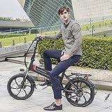 SAMEBIKE 20 Zoll Elektrofahrrad mit 350 W 48 V 10 Ah Lithiumbatterie Faltbares Elektrofahrrad E-Bike für Erwachsene (weiß) - 7