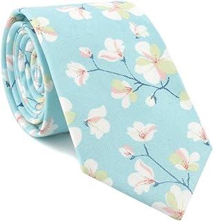 DIEBELLAU Floral tie Men's Dress Print Casual Fashion tie (Color : 2)
