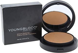 Youngblood Creme powder foundation refillable compact with product-warm beige 0.25 oz / 7 gr, 0.25 Ounce