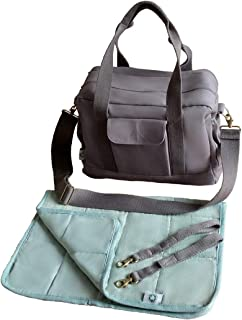 Organic Canvas Diaper Bag with Stroller Straps & Changing Pad