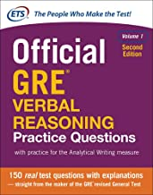 Official GRE Verbal Reasoning Practice Questions, Second Edition, Volume 1 PDF