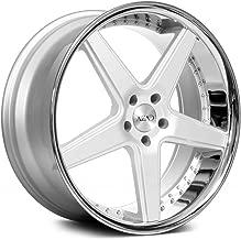 Azad AZ008 Custom Wheel - Semi Matte Silver and Chrome SS Lip Rims - 22
