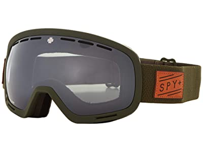 Spy Optic Marshall (Herringbone Olive Happy Gray Green w/ Silver Spectra) Snow Goggles