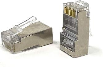Mr. Tronic 100 Conectores RJ45 | CAT6 8P8C STP | Enchufe Modular | 100 Unidades