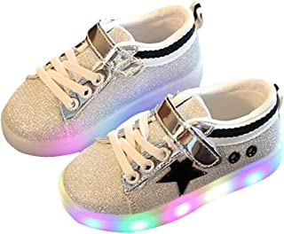 BININBOX Kids Casual Sneakers Bling Light Up Shoes for Boys Girls