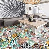 Ambiance-Live col-floor-RV-0599 Pegatinas para Azulejos de Suelo, Vinilo, Timeo, 60 x 100 cm