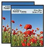 MCS Original Poster Frame, 22 x 28 Inch, Black, Set of 2
