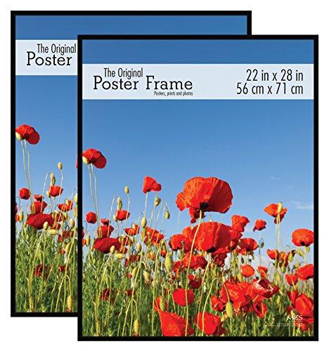 MCS - Marco para póster original, 22 x 28 pulgadas, color negro, juego de 2