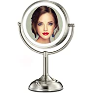 """VESAUR Professional 7.5"""" Lighted Makeup Mirror, 10X Magnifying Vanity Mirror with 28 Medical LED..."""
