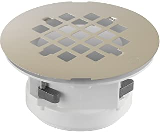 WingTite Pro-Series Shower Drain, Builders Model for New Construction, Installs Entirely from the Top, Brushed Nickel
