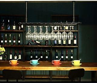 RACK MDELRuldeⓘ Porte-Verre à vin Casier à l'envers Style Simple Porte-Verre à vin Suspendu en Fer Étagère de décoration d...