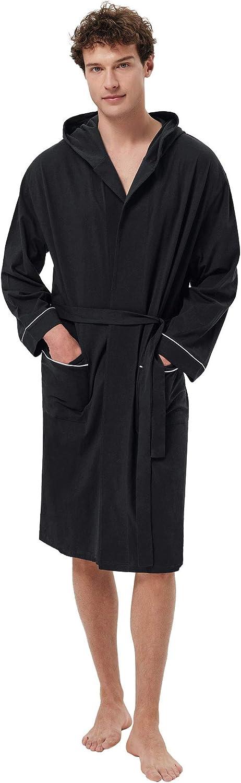 SIORO Men's Cotton Mail order cheap Robe Lightweight Free shipping New Bat Soft Knee Length Kimono