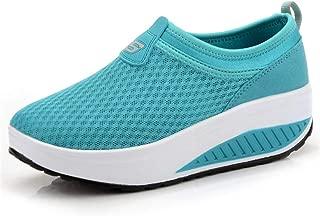 Unparalleled beauty Womens Walking Shoes Lightweight Mesh Slip-on Running Wedge Rock Sneakers