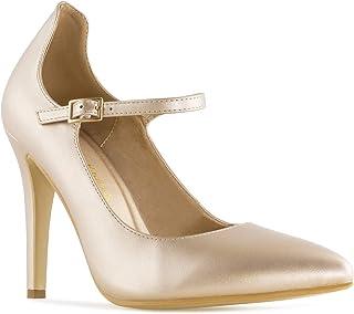Andrés Machado - Chaussures pour Femme/Adolescent en Soft Bout Pointu - AM5310 - Escarpins de mariée Fermeture par Boucle...