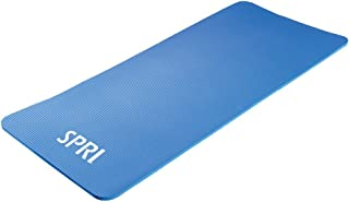 SPRI Pro Exercise Mat for Fitness, Yoga, Pilates, Stretching & Floor Exercises (Available in 55 or 71L x 24W x 0.625-Inch Thick)