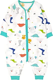 Bebé Saco de Dormir para Niños Niñas 1.5 tog, Pijamas de una pieza con Piernas Mamelucos Mono Traje de Dormir Ropa para Do...