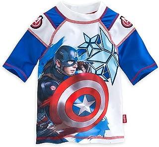 Store Boys Captain America Civil War Waves of Support Rash Guard, Blue
