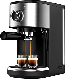 Bonsenkitchen Machine à Expresso, Machine à Café en Acier Inoxydable Haute Puissance, 1450 W, 15 Bars Machines Combinées F...