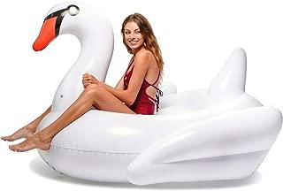 Floatie Kings White Swan Party Pool Float - Original Giant Premium Inflatable