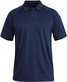 MAGCOMSEN Men's Outdoor Tactical Polo Shirt Short Sleeve Performance Pique Jersey Golf Polo Shirt