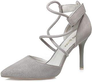 Ying-xinguang Shoes Fashion Sexy Cross Strap Sandals Stiletto OL Women's Shoes Women's High Heel Comfortable