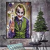 N / A MUTU DC Batman Dark Knight Vintage Poster Clown Klassischer Film Dekorieren Wandaufkleber Bar Cafe Dekorieren Malen FreeShipping 60x90 cm Kein Rahmen