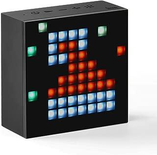 Divoom Aurabox Bluetooth 4.0 Smart LED Speaker with APP Control for Pixel Art Creation 4.3X2.2 X4.3 Inch