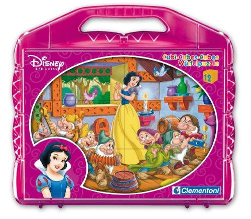 Clementoni - 41160.3 - Blanche-Neige - Puzzle 12 Cubes