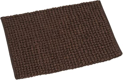 FHE Group Tissue Loop Bath Mat, 30 by 20 Inches, Chocolate