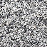 BTT-ST Steinteppich aus Marmorkies Grigio Bardiglio und Epoxidharz Bindemittel für 7,2m² Marmorstein Marmorkiesel Steinboden Bodenbeschichtung